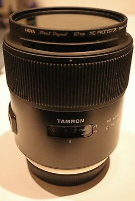 Used Tamron SP 45mm F/1.8 Di VC USD Lens Canon Fit + Hoya Pro1 Digital filter