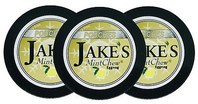 JAKE'S MINT CHEW - Eggnog POUCH 3ct -Tobacco & Nicotine Free Dip