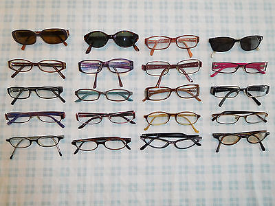 Lot 20 Colorful Eyeglasses Sunglasses Frame Women's Vogue prodesign DKNY Guess 6