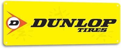 Dunlop Tire Gas Service Station Garage Retro Auto Wall Decor Metal Tin Sign