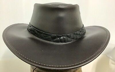 Hat Band Leather for Stetson Akubra JACARU and Other Style Hats Crocodile print