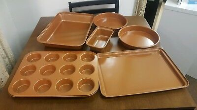 Eternal 6 Piece Nonstick bakeware set ceramic infused copper brand new in box