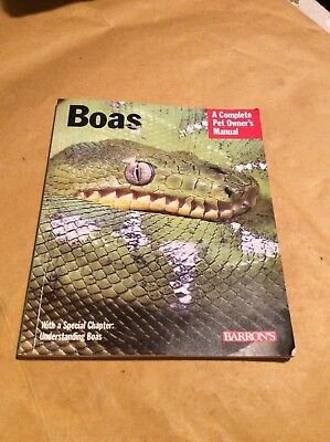 Boas - pet owners manual - book about keeping snakes - Barrons