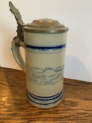Wolves Chasing Man On Horse beer stein