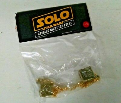 Solo A Star Wars Story Han Solo Dice Lucky Sabacc Dice AMC Premier Fan Event NEW