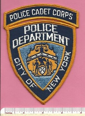 New York City NY Law Enforcement NYC Police Shoulder Patch & Cadet Corp Rocker