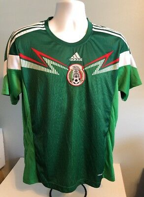 e3901b726db Adidas Men's Mexico 2014 World Cup Home Football Soccer Shirt Climacool Size  M