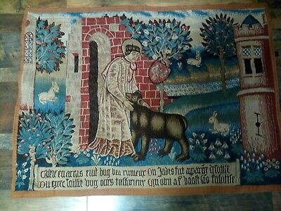 Boglys French Tapestry Man with Bear