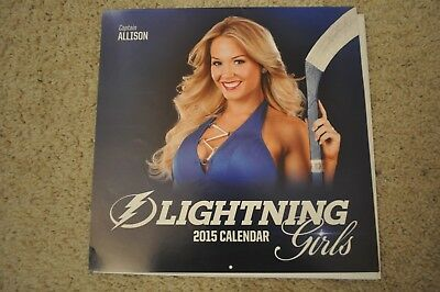 2015 Tampa Bay Lightning Nhl Dancer Ice Girls Cheerleaders Calendar  New