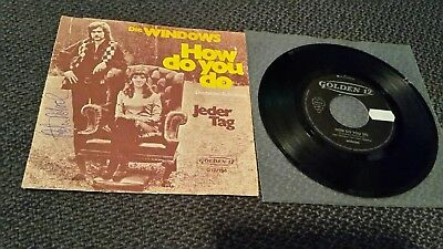 "Die WINDOWS: How Do You Do - 7"" Single 1972 - Coverhülle SIGNIERT Peter Petrel"