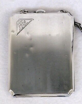Antique ca 1920 WH Saart Sterling Silver 925 Art Deco Coin Dance Compact Purse