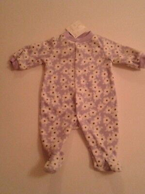 Newborn baby girls clothes fleece  baby grow newborn  3-6 6-9 months BNWT
