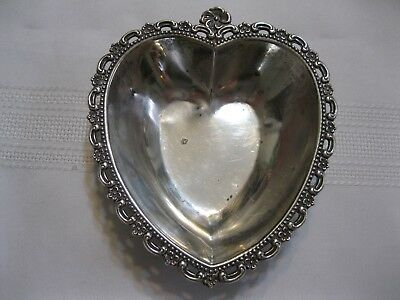 Fisher Sterling Silver Heart Shaped Dish