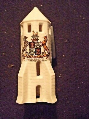"""LIGHT HOUSE TOWER 4.5x2"""" parian W H Goss model c 1910 Ilchester arms Chantry"""