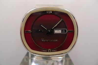 Mido Commander 788496 Vintage Steel 40Mm Swiss Made  Day Date No Reserve Nr