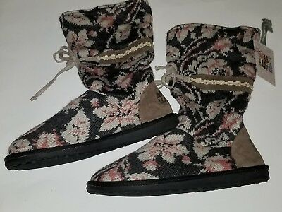New Women's Muk Luks Jasmine Floral Boots Style 107704 Multi-Color