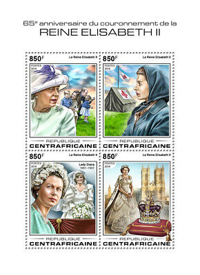 Z08 Imperf CA18402a Central Africa 2018 Queen Elizabeth II MNH Mint