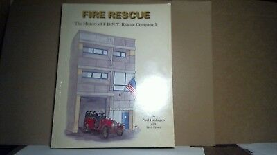 FIRE RESCUE - HISTORY of FDNY RESCUE 1 - by PAUL HASHAGEN - 1989 - EXCELLENT
