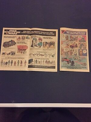 Vintage 1980 Kenner Star Wars Toy Collection Print Ad Classic Figures