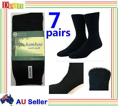 7 Pairs BAMBOO SOCKS Men's Heavy Duty Thick Work Socks Cushion BULK New Premium