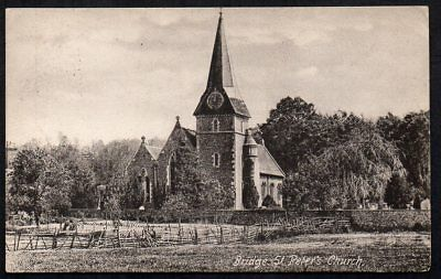 GB - 1908 Vintage Postcard of St Peters Church, Bridge, Kent