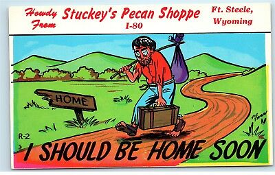 Stuckey's Pecan Shoppe Ft. Steele Wyoming Postcard D73