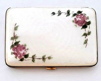 Vintage FOSTER Art Deco Ivory Guilloche Enamel Double Vanity Compact. MUST SEE!