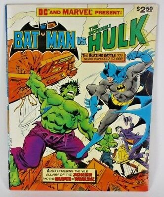 Dc Marvel Batman Vs Incredible Hulk Collectors Edition Comic Book F-Vf Condition