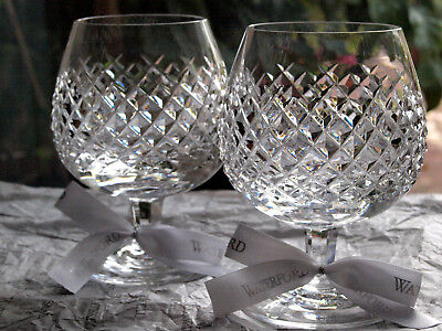 Waterford Crystal Alana Large Brandy Glass/ Pair, Mint, Vintage Made in Ireland