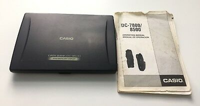Casio Data Bank DC-8500 64KB Backlight Display Portable Organiser With Manual