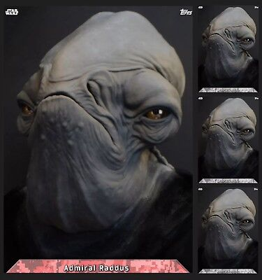 Admiral Raddus-Rogue One-Concept Portraits-Red+3Gray-Topps Star Wars Card Trader