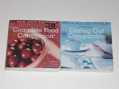 Weight Watchers 2009 Books Dining Out and Complete Food Companion
