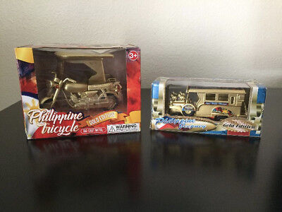 Philippine Jeepney & Tricycle Gold edition die-cast metal