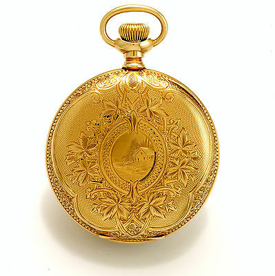 Rare 14K Gold Case Illinois Pocket Watch   Non-Magnetic Watch Co21 Jewel 16 Size
