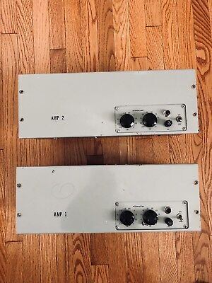 Rare Pair Of Western Electric KS-16575 L1 Tube Amplifiers (Made By Macintosh)