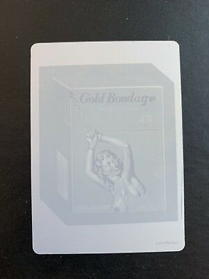 LOST WACKY PACKAGES 4th SERIES MAGENTA PRINTING PLATE Gold Bondage X #1/1