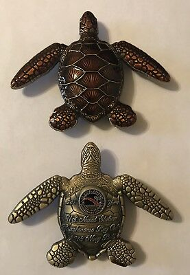 Sought After-Brand New-Guantanamo Bay Navy-Sea Turtle-Challenge Coin. Non CPO