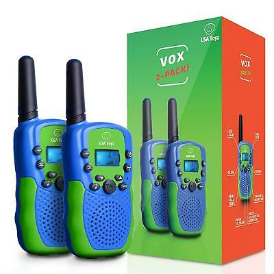 USA Toyz Walkie Talkies for Kids Vox Box Voice Activated Rechargeable Long Range
