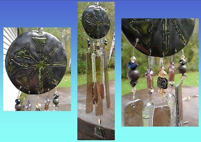 Anu Wind Chime Glass Pottery Sumerian Mobile Pewter Green Bronze Garden Mobile