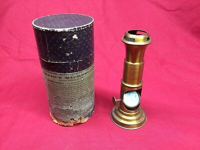 Antique Craig's Microscope Patented February 18, 1862 Brass In Original Box