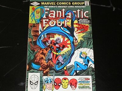 Fantastic Four #242 1982 Terrax The Untamed VG Condition