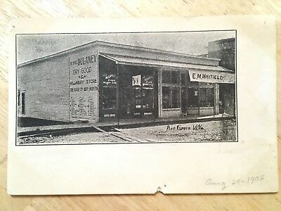 1906 PINE GROVE WV Postcard:DULANEY DRY GOODS MILLINERY STORE, E M Mayfield RPPC