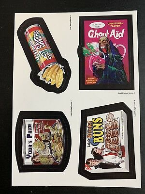 LOST WACKY PACKAGES Series 4 QUAD BLOCK 4 Titles STAR WARS