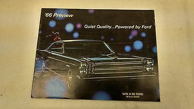 1966 Ford Original Preview Sales Brochure, Catalog