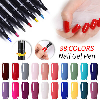 LEMOOC 5ml Nail Art Vernis à Ongles Semi-permanent UV Gel Nail Polish Manucure