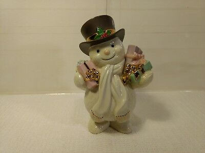 Christmas Lenox Classics Porcelain Ivory Snowman Special Delivery Figurine ch472