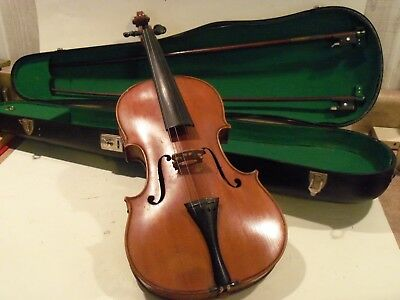 Very Nice Vintage Antique Imperial Violin,full Size Violin With Case, And 2 Bows