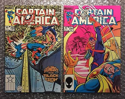 Captain America #292 (1ST BLACK CROW) & #294 (1ST SISTERS OF SIN) Copper Age LOT