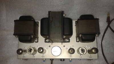 Ampex Stereo 2x24W tube amp,working,upgraded power supply,coupling caps R&R,6973