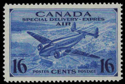 Canada 1942 16¢ Airmail Special Delivery Mint Never Hinged